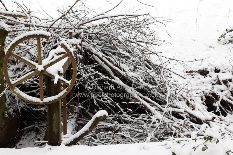 Old sluice gate wheel