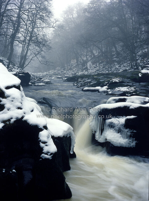 Winter The Strid Wharfedale North Yorkshire UK