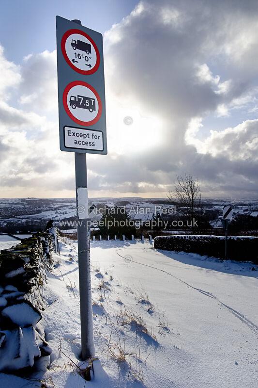 Winter Back Lane Laycock West Yorkshire UK