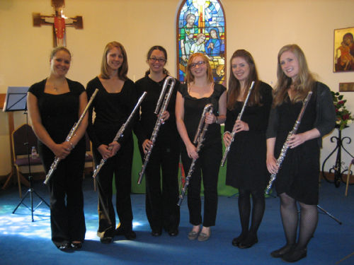 rarescale Flute Academy at St Eligius Church, Arborfield Garrison 2012. Photograph by Rita Le Var