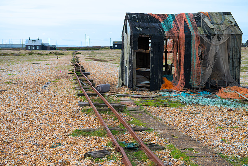0681-3 Dungeness Fisherman's Hut and Rails