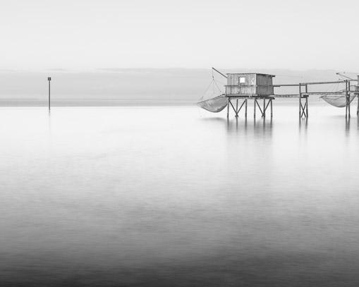 5796-Solitude Monochrome Stilt Fishing Hut West Coast France