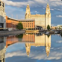 Liver Buildings Princes Dock Reflections