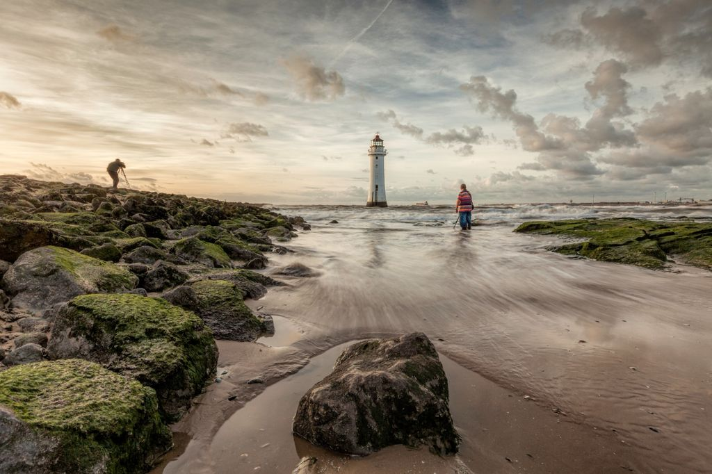 """""""Perch Rock Lighthouse"""" (Togs on the Rock)"""