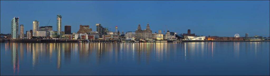 """""""Iconic Liverpool Waterfront'(Blue Hour)"""