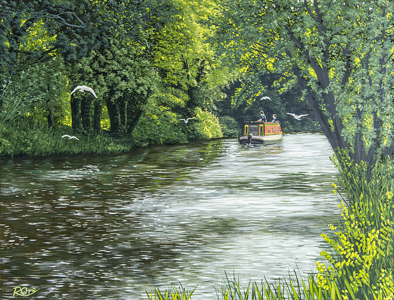Narrow Boat on the Kennet