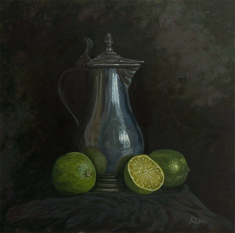 Pewter Jug and Limes