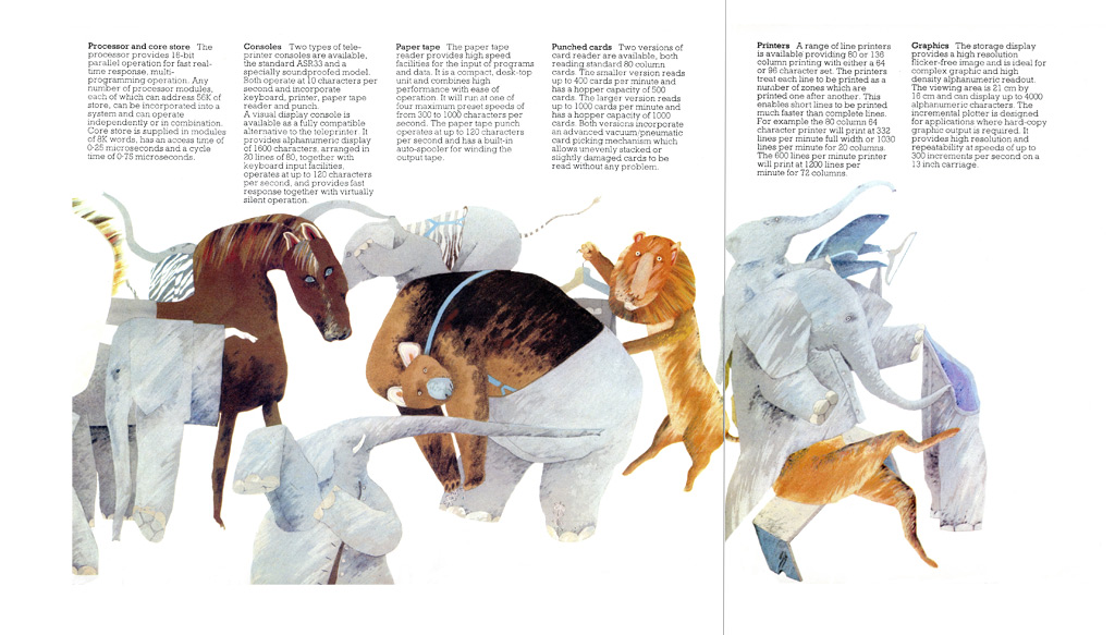ICL Brochure Spread, Elephant Metaphor for Modularity and Memory
