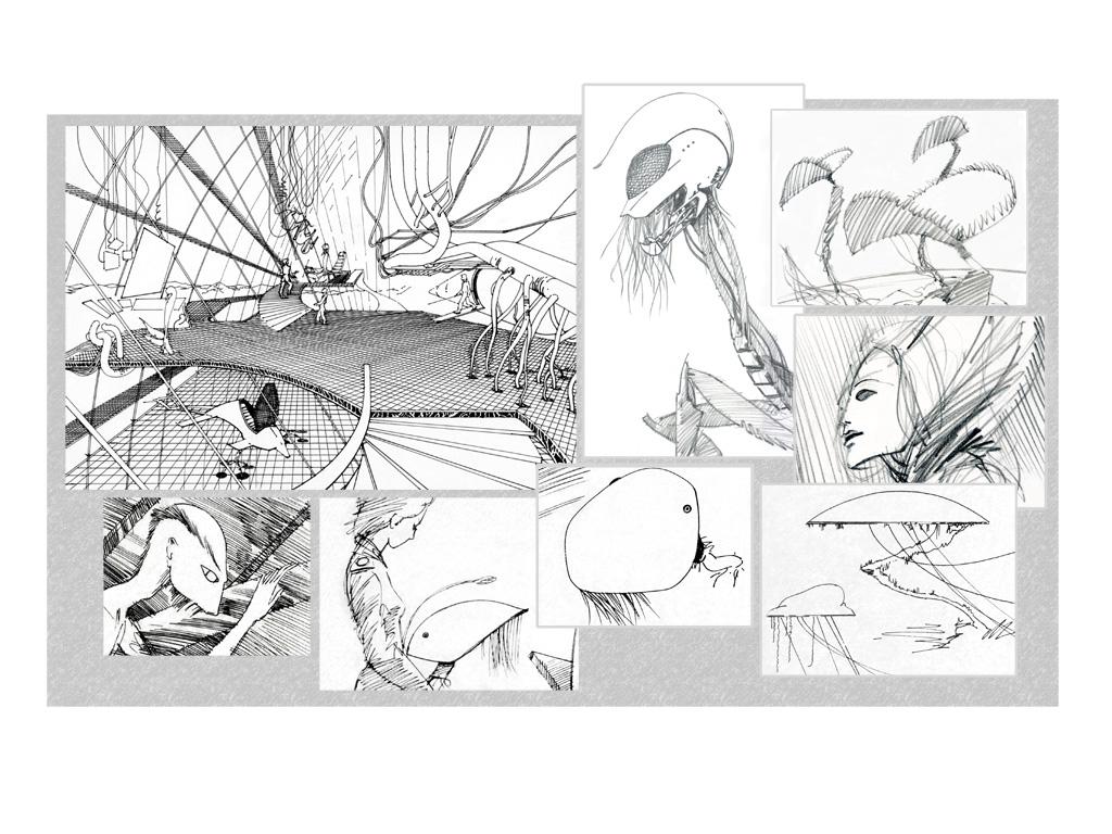Production Design Visuals & Storyboard Frames, Captain Zep - Space Detective