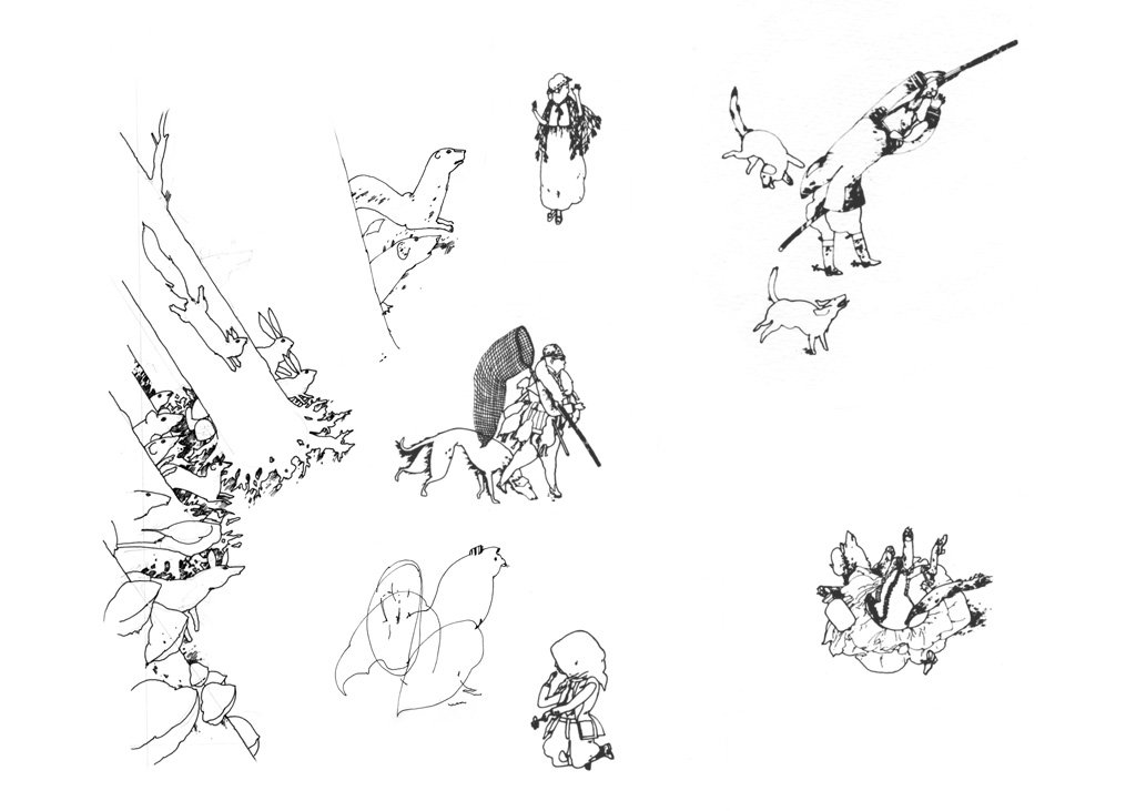 Studies for Telegraph Magazine Double Page Spread