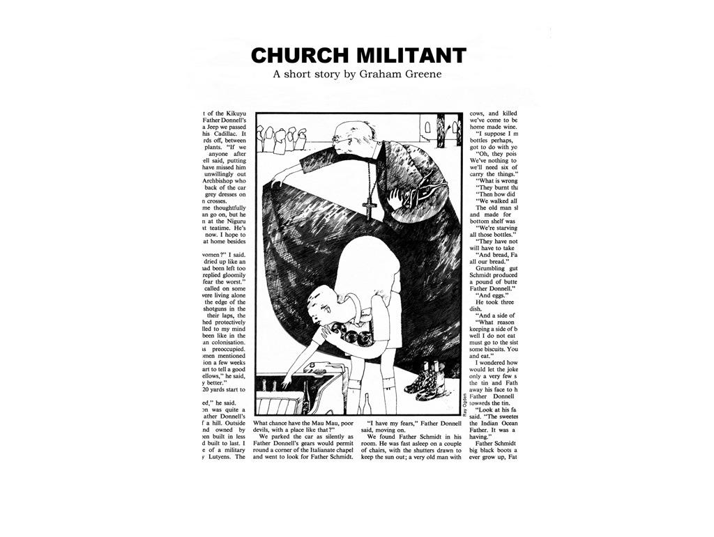 Telegraph Weekend Magazine Illustration,  'Church Militant' Story