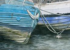 Boats on the Ouseburn, Byker. Fine art print