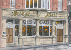 The Bridge hotel, Newcastle upon Tyne. 7X5 inch fine art print