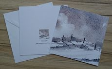5X5 inches greetings/Christmas card 'Snowdrift'