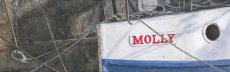 'Molly' an old boat on the Ouseburn, Byker, fine art print