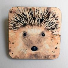 'Mr Hedgehog' printed coaster