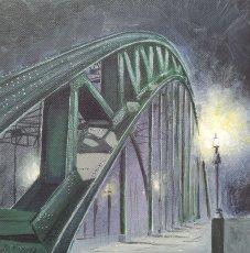 5X5 inches greetings card 'Tyne bridge'
