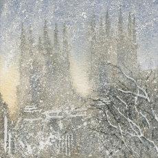 5X5 inch greetings/Christmas card 'Snowy Minster'