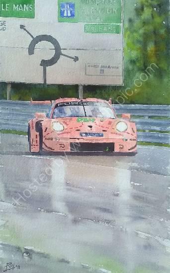 Porsche 911rsr pink pig LM2018