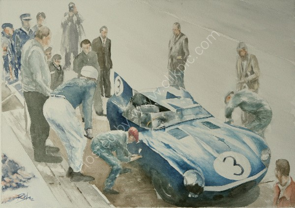 D-type wins Le Mans again,1957