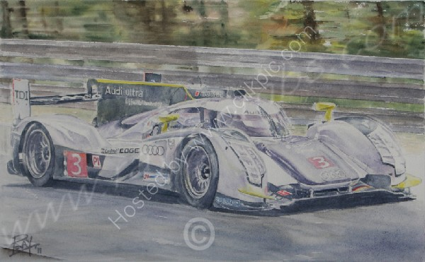 audi r18 watercolour toombs le mans 2011