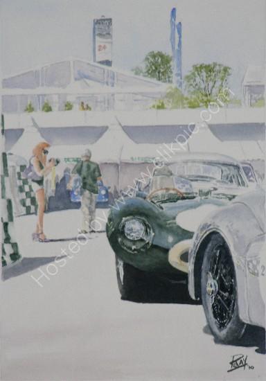 Le Mans classic 2010 d-type jaguar plateau2