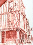 pilier au clefs le mans watercolour