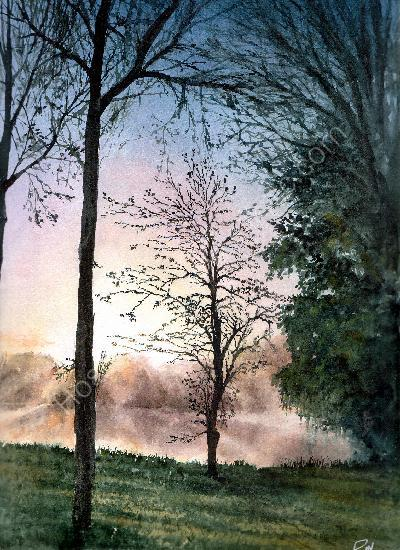 st jean de la motte watercolour aquarelle