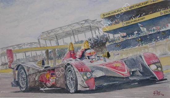Tom Kristensen Allan McNish Dindo Capello winners in Audi R10TDI Le Mans 2008