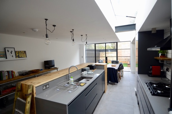 Extension interior view