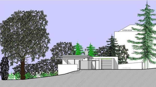 Modern house in a conservation area