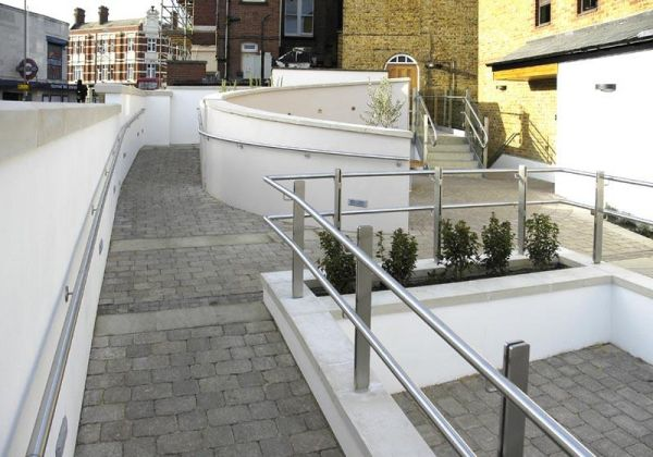 A combination of ramps and meeting spaces were incorporated