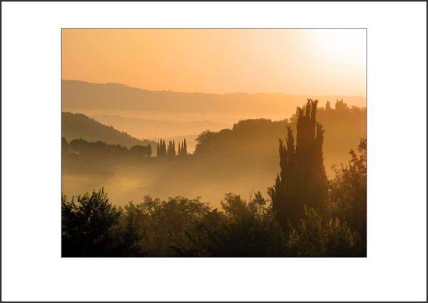 IT09004. Dawn Glow, Tuscany