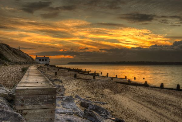 Winters light at Lepe