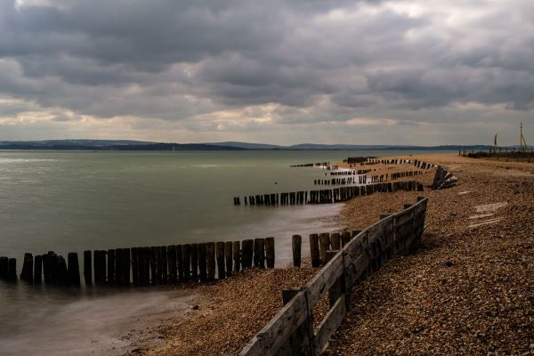 Lepe Beach on the Solent