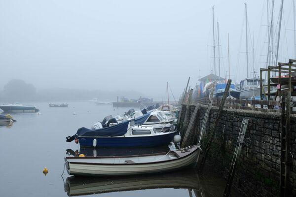 Keyhaven Harbour in Winter Fog
