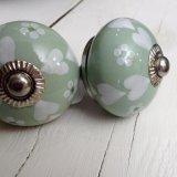 Posy Hearts Sage Green - £4.95 ea