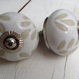 White Stencil Blossom Handle - £4.95 ea