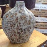 Cream & Copper vase - £17.95