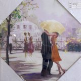 Romantic Yellow Umbrella Canvas - £12.95