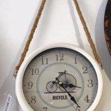 Cream rope hanging clock - £25.99