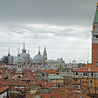 A view over the roofs towards San Marco, Venice
