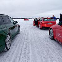 Ice track driving, Muonio, Finland