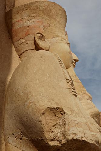 Statue of pharaoh, Hatshepsut Temple, Luxor