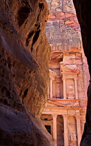 At the entrance of Petra