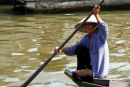 Paddling woman, Tonle Sap