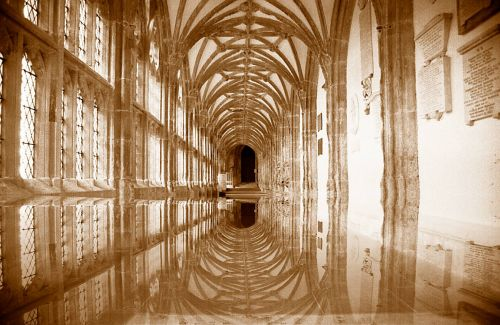 Wells Cathedral Corridor