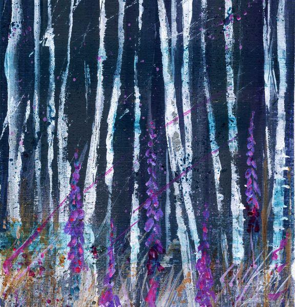 Foxgloves & Birches
