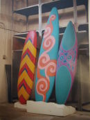 hand-painted surf boards.
