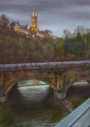 View from Partick Bridge (Glasgow University)